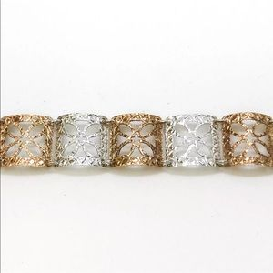 Jewelry - 14k White Gold Layered on 925 Silver Bracelet